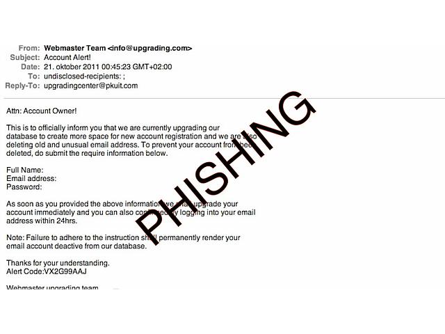 prepoznajte phishing prevaro