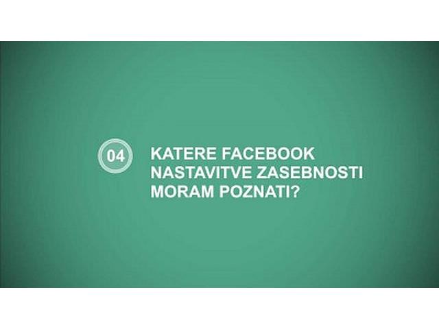 facebook nastavitve zasebnosti
