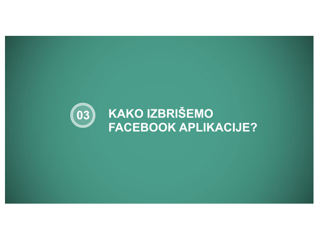 kako izbrišemo facebook aplikacije