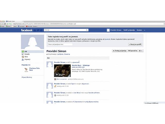 kako drugi vidijo moj facebook profil