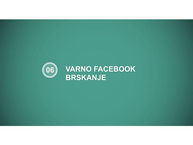 varno facebook brskanje